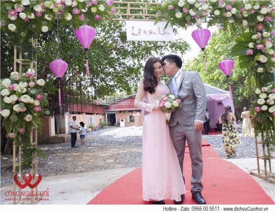 Trang trí đám cưới hoa sen