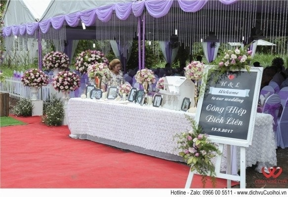 Trang trí đám cưới tại nhà trọn gói