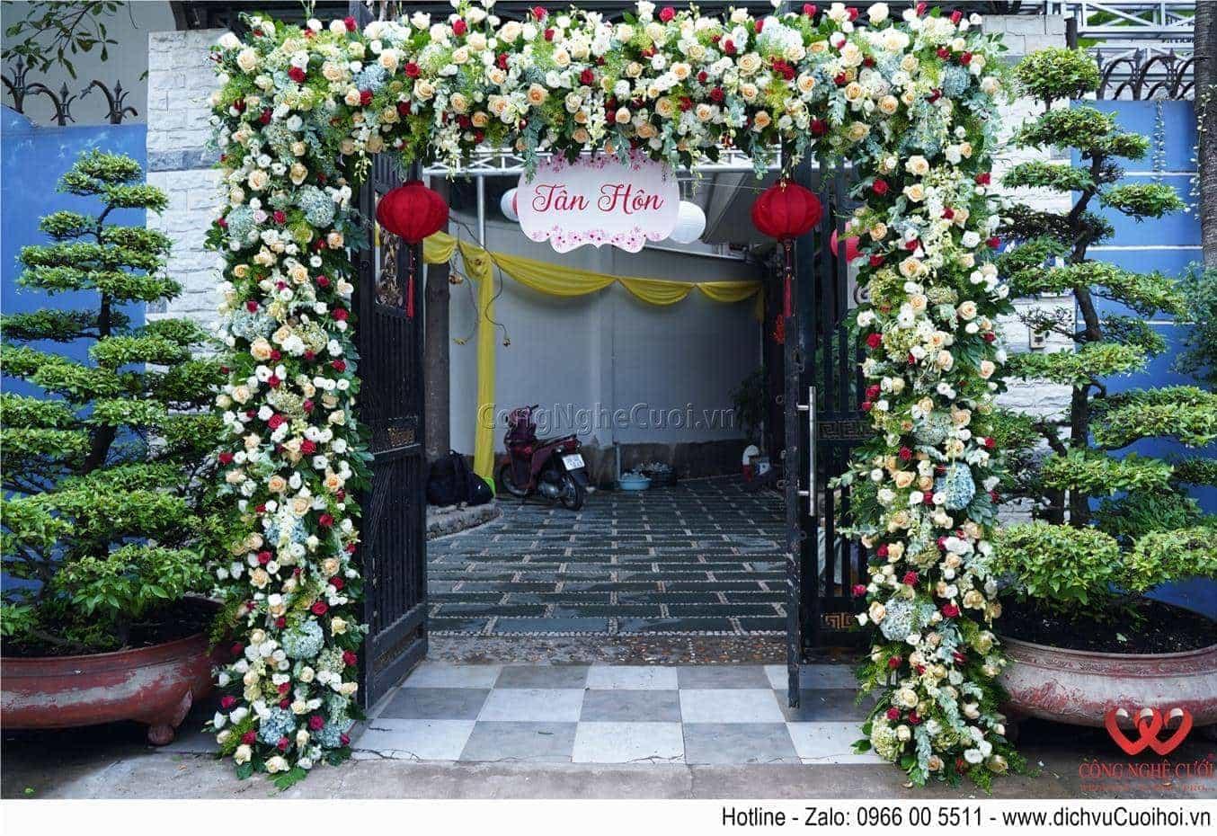Cổng hoa tươi đám cưới - Dịch vụ cưới trọn gói