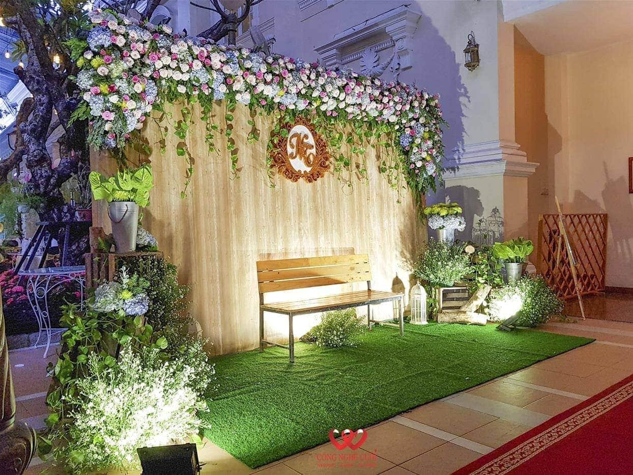 Backdrop chụp ảnh tiệc cưới