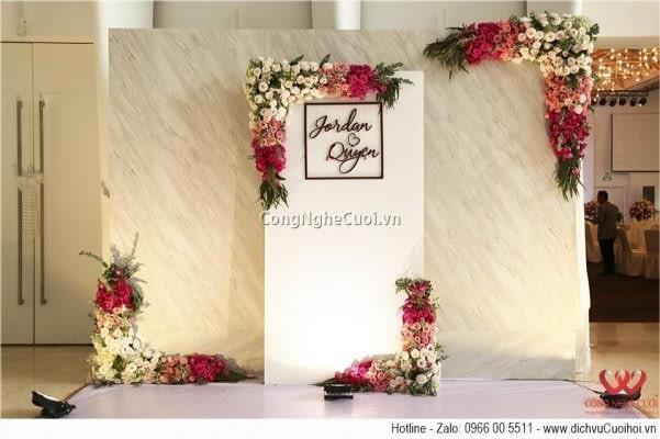 rang trí tiệc cưới Jordan & Quyen tại White Place