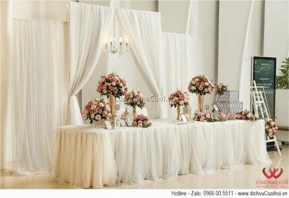 Trang trí tiệc cưới Jordan & Quyen