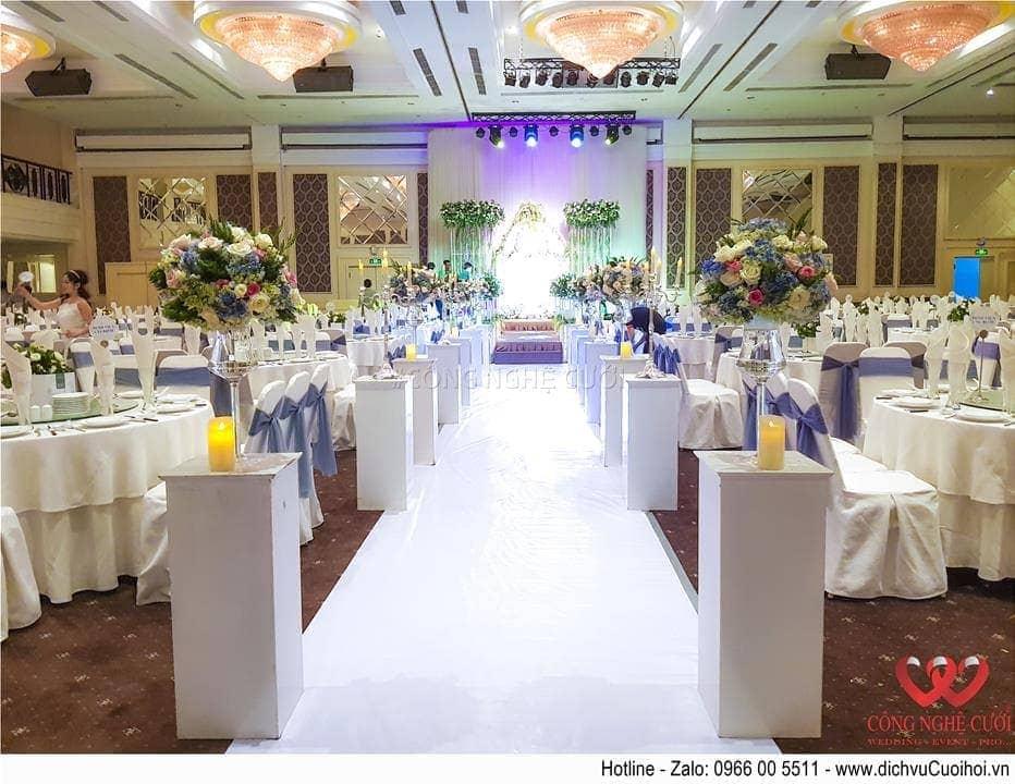 Trang trí tiệc cưới nhà hàng White Place