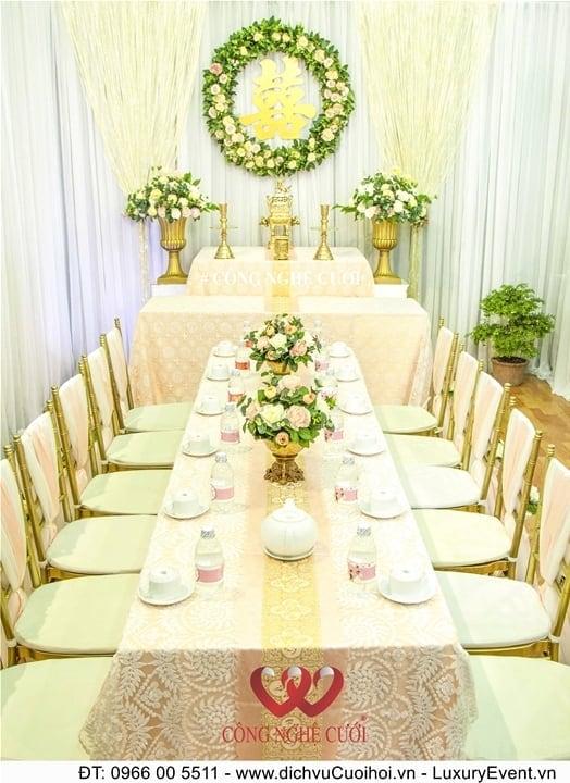 Trang trí nhà đám cưới, dịch vụ cưới hỏi, trang trí gia tiên, trang trí tiệc cưới