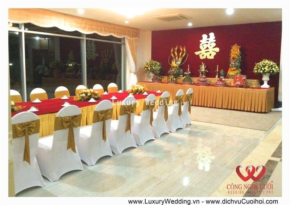 Trang trí gia tiên đám cưới trọn gói tại nhà