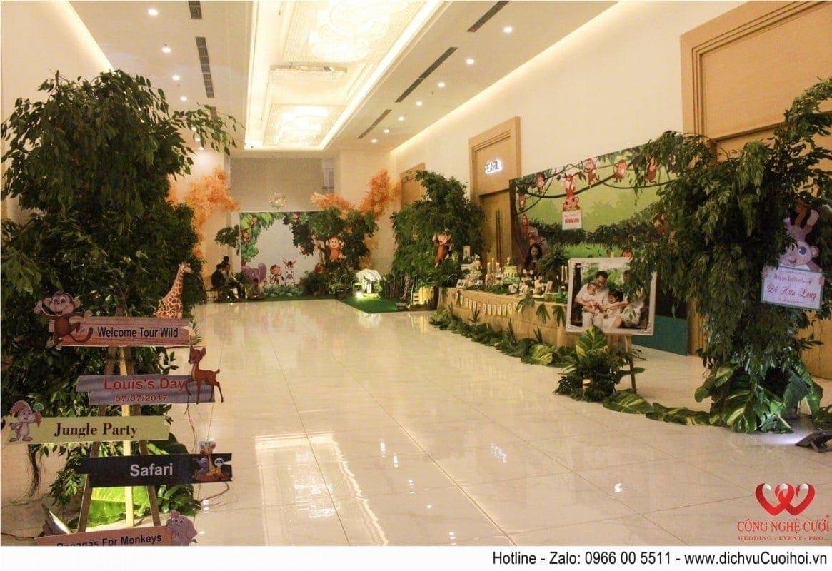 Trang trí sinh nhật bé Hữu Long tại nhà hàng Adora Luxury
