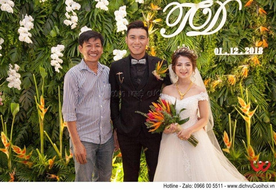 Trang trí tiệc cưới Tropical tại Adora Nguyễn Kiệm