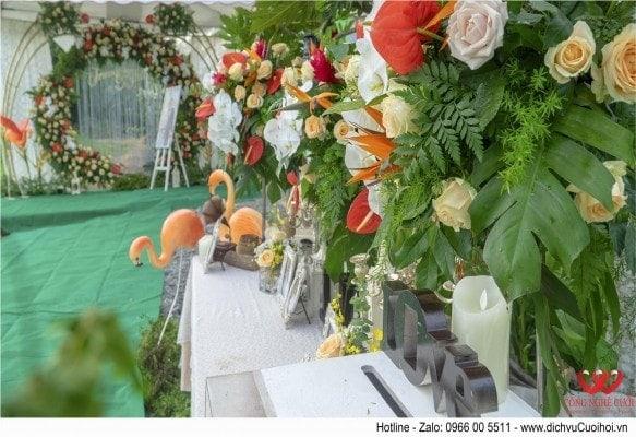 Trang trí tiệc cưới tại long an