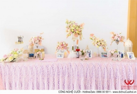 Công Nghệ Cưới - Tổ chức đám cưới trọn gói, trang trí tiệc cưới cho hai bạn Linh - Hà