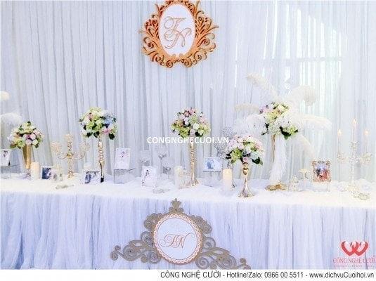 Trang trí tiệc cưới tại Galla Center