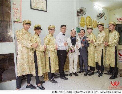 Cho thuê nhân sự áo dài bưng quả đám cưới