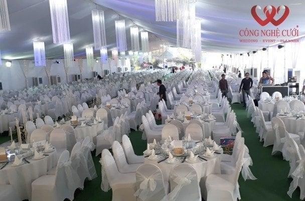 Lắp nhà bạt đám cưới 1.200 khách