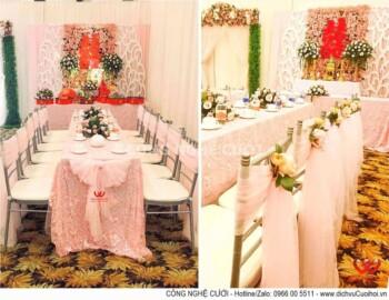 Gói trang trí gia tiên hồng Pastel