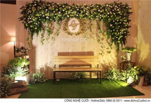 Trang trí tiệc cưới với phong cách rustic