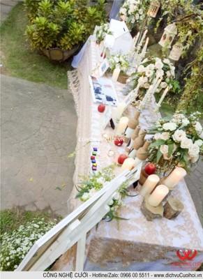 Trang trí tiệc cưới trọn gói bàn gallery đám