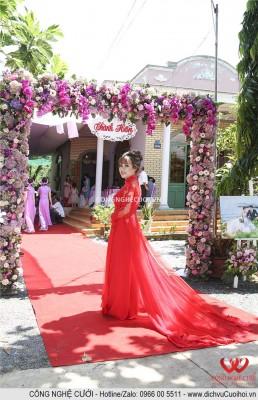 Dịch vụ cưới hỏi trang trí tiệc cưới trọn gói, cổng hoa bứng quả