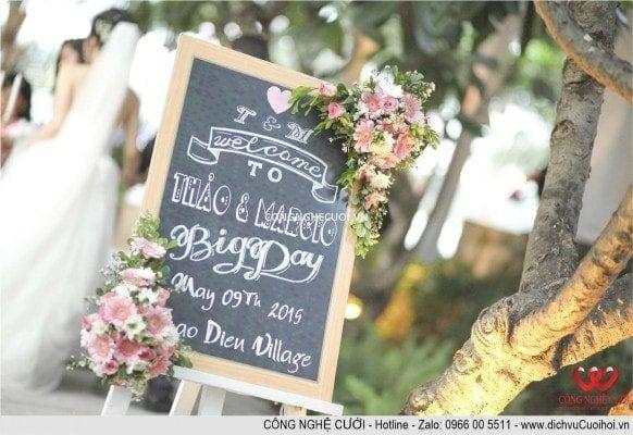 Tổ chức đám cưới, trang trí lễ cưới ngoài trời