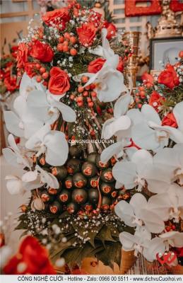 Mâm quả và lễ vật ngày đính hôn