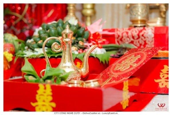 Lễ gia tiên trọn gói tông mảu đỏ