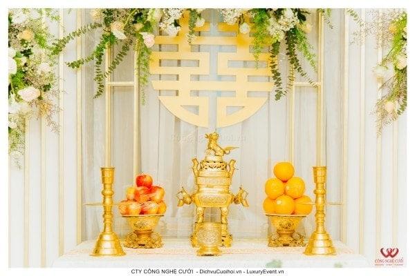 Trang trí lễ gia tiên đám cưới tại nhà quận 7