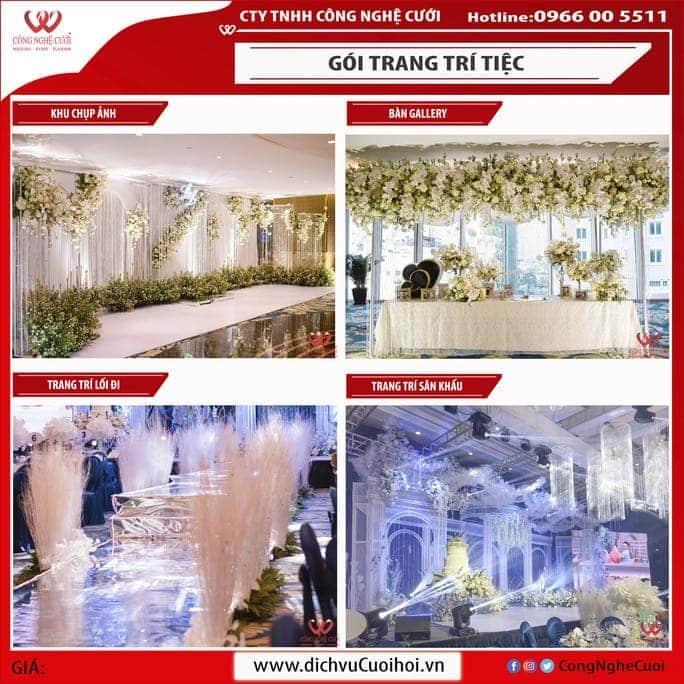 Trang trí không gian tiệc cưới đẹp