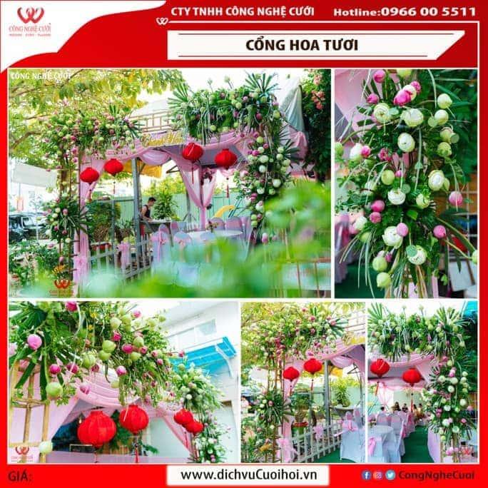 Bộ xu tập mẫu cổng hoa hoa cưới đẹp từ Công Nghệ Cưới