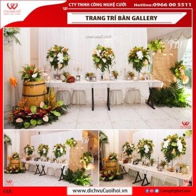 Mẫu Trang trí bàn gallery đám cưới