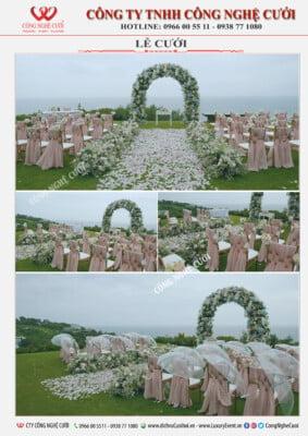 Trang trí lễ cưới ngoài trời, bãi biển