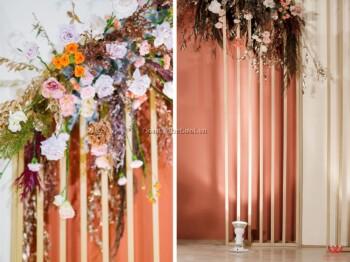 Trang trí tiệc cưới, Backdrop tông cam