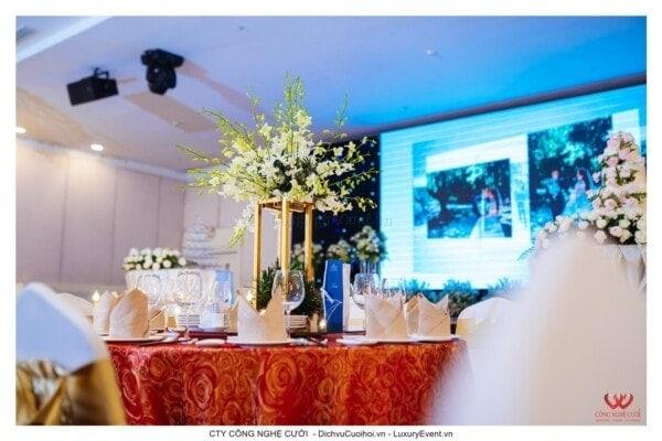Trang trí tiệc cưới nhà hàng, dịch vụ cưới hỏi trọn gói