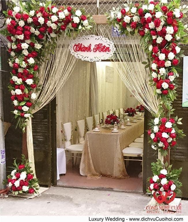Cổng hoa lụa đẹp