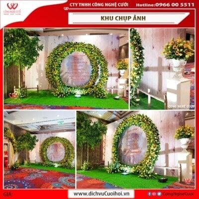 Backdrop chụp ảnh trang trí đám cưới