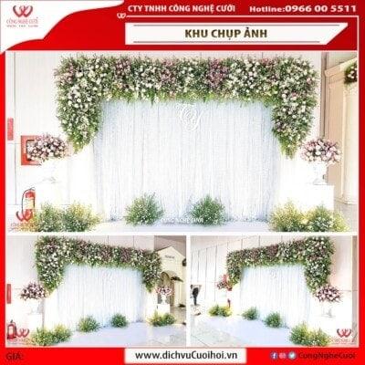 Backdrop phông chụp ảnh tiệc cưới