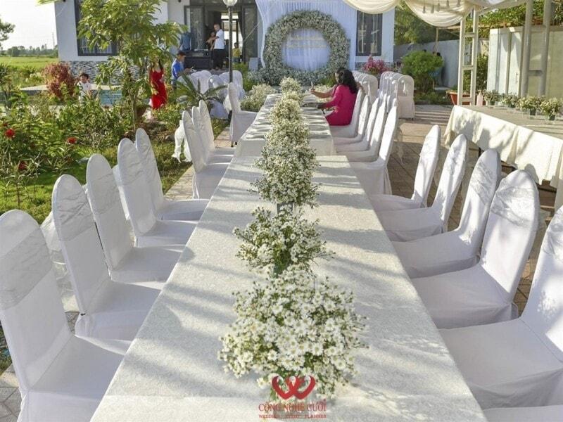 Trang trí lễ cưới, tiệc ngoài trời