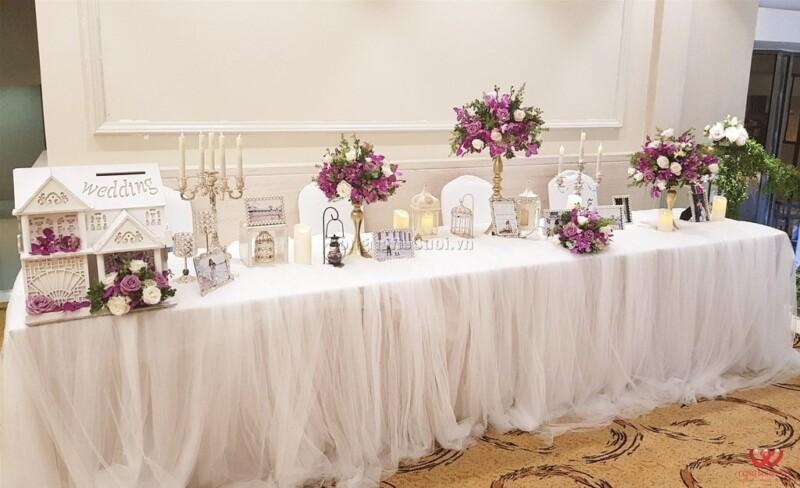 Trang trí bàn gallely, trang trí tiệc cưới