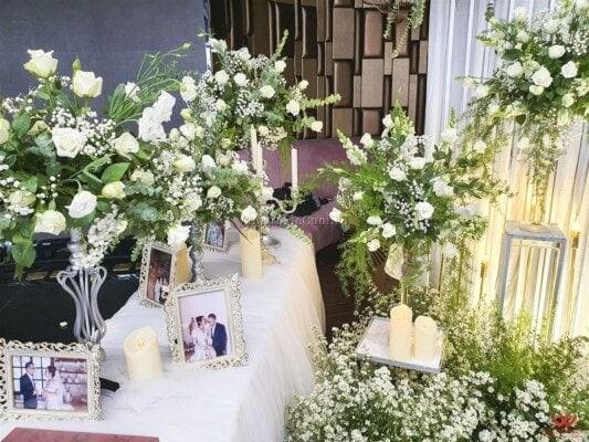 Trang trí backdrop tiệc cưới