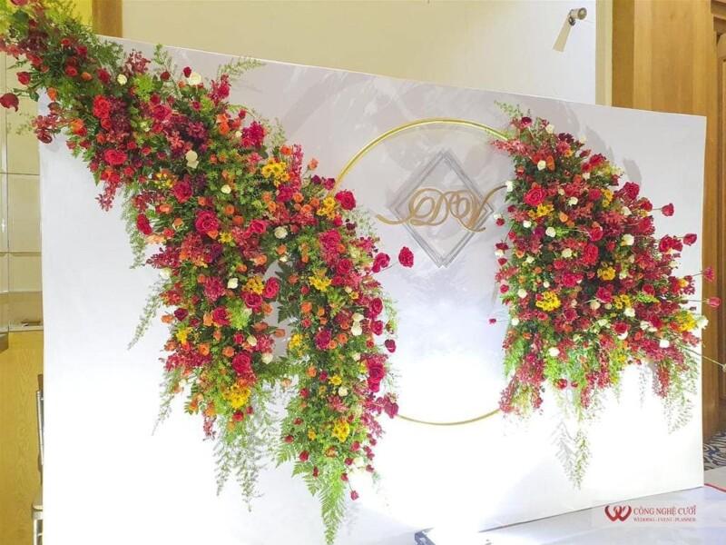 Trang trí tiệc cưới nhà hàng