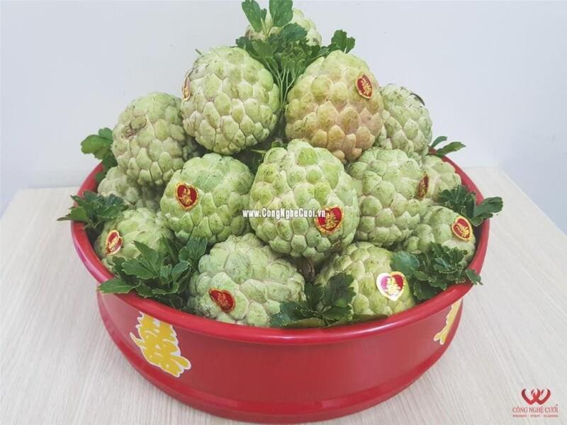 Mâm quả trái cây mãng cầu cưới hỏi