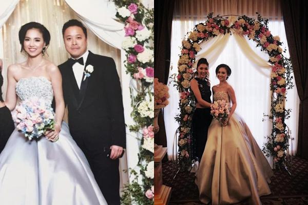 [Caption]Khuya 9/10 (giờ Việt Nam), người mẫu Ngọc Quyên bất ngờ chia sẻ một vài hình ảnh đám cưới của Đinh Ngọc Diệp - Victor Vũ vừa diễn ra tại Mỹ.