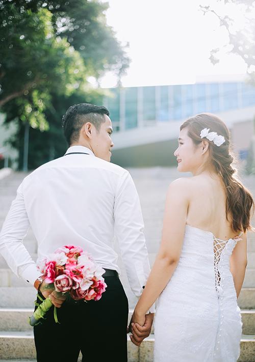 Giây phút hạnh phúc bình dị của Thông và Kim Anh