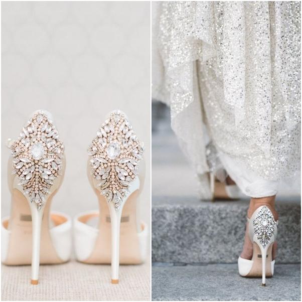 Giày cưới đẹp đính đá