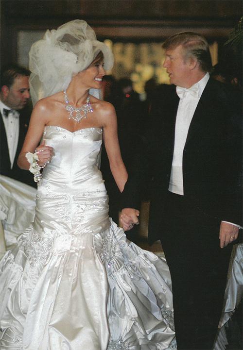 [Caption] Donald Trump kết hôn với người mẫu Slovenia - Melania Knaus vào năm 2005