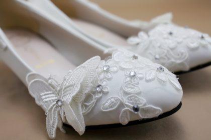 Giày búp bê đính hoa