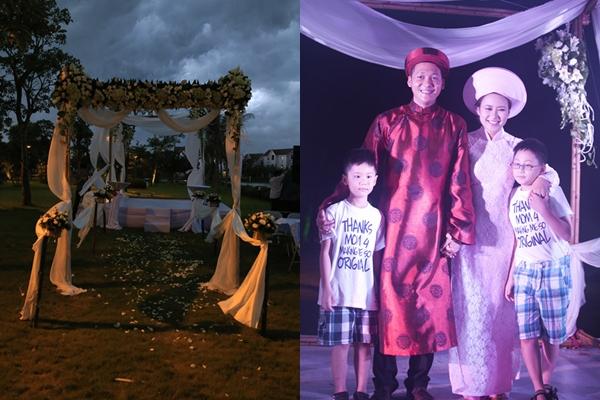 [Caption]Dự định tổ chức một đám cưới lãng mạn ngoài trời nhưng nữ ca sĩ Họa mi hót trong mưa không gặp may bởi cơn mưa lớn bất ngờ ập xuống vào cuối buổi chiều ngày 18/5