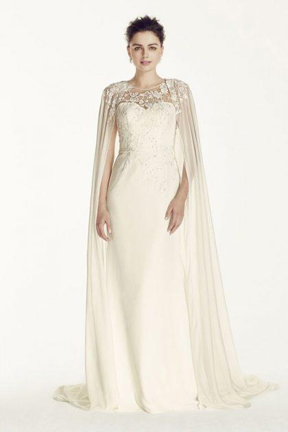 Áo cưới với áo choàng voan