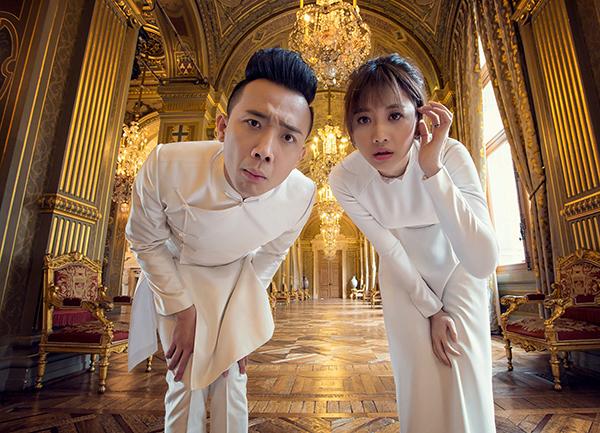 [Caption]Đặc biệt, Trấn Thành và Hari Won là cặp đôi người Việt đầu tiên được phép chụp hình cưới tại Hotel de Ville de Paris, một địa danh nổi tiếng tại Pháp, nơi thường xuyên đón tiếp các nguyên thủ quốc gia.