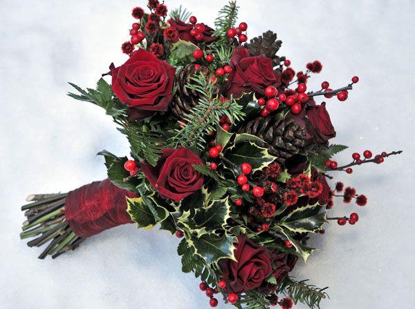 Hoa cưới cầm tay mùa đông