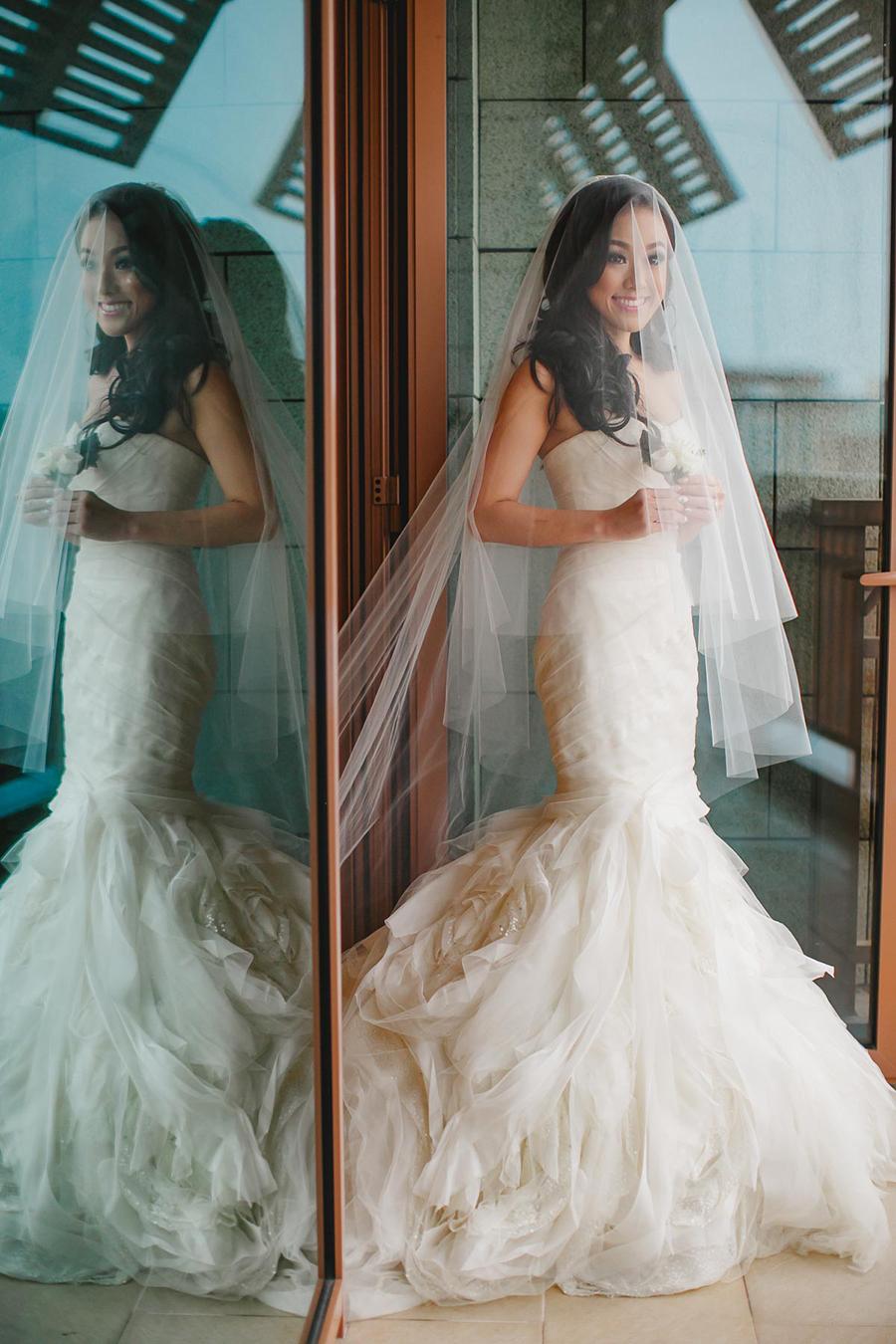Bộ váy cưới dáng tiên cá của thương hiệu Vera Wang