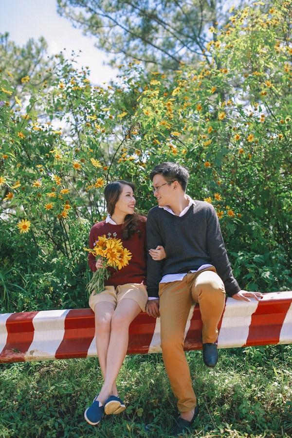 Ảnh cưới Đà Lạt mùa hoa dã quỳ