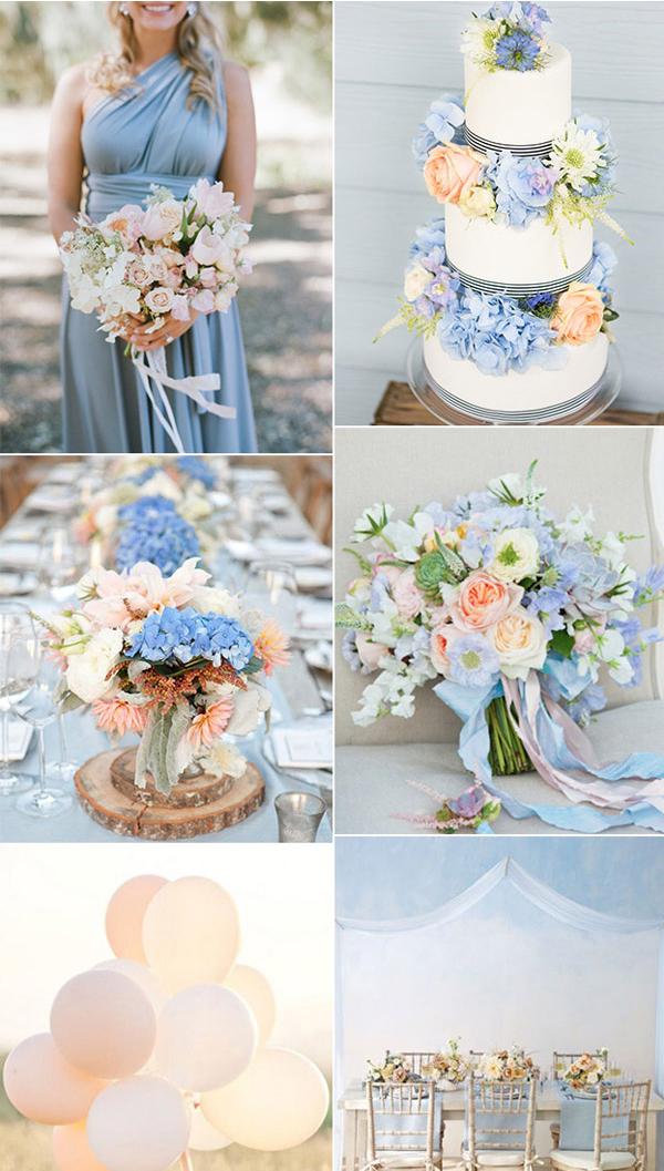 Theme tiệc cưới màu xanh